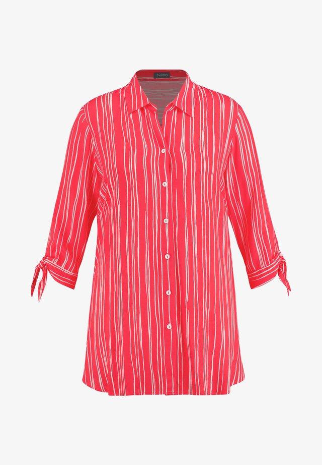 3/4 ARM - Button-down blouse - watermelon