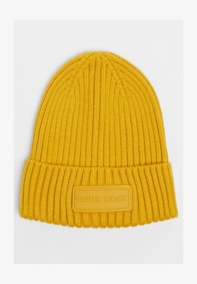 IM RIPPENSTRICK - Bonnet - mustard yellow