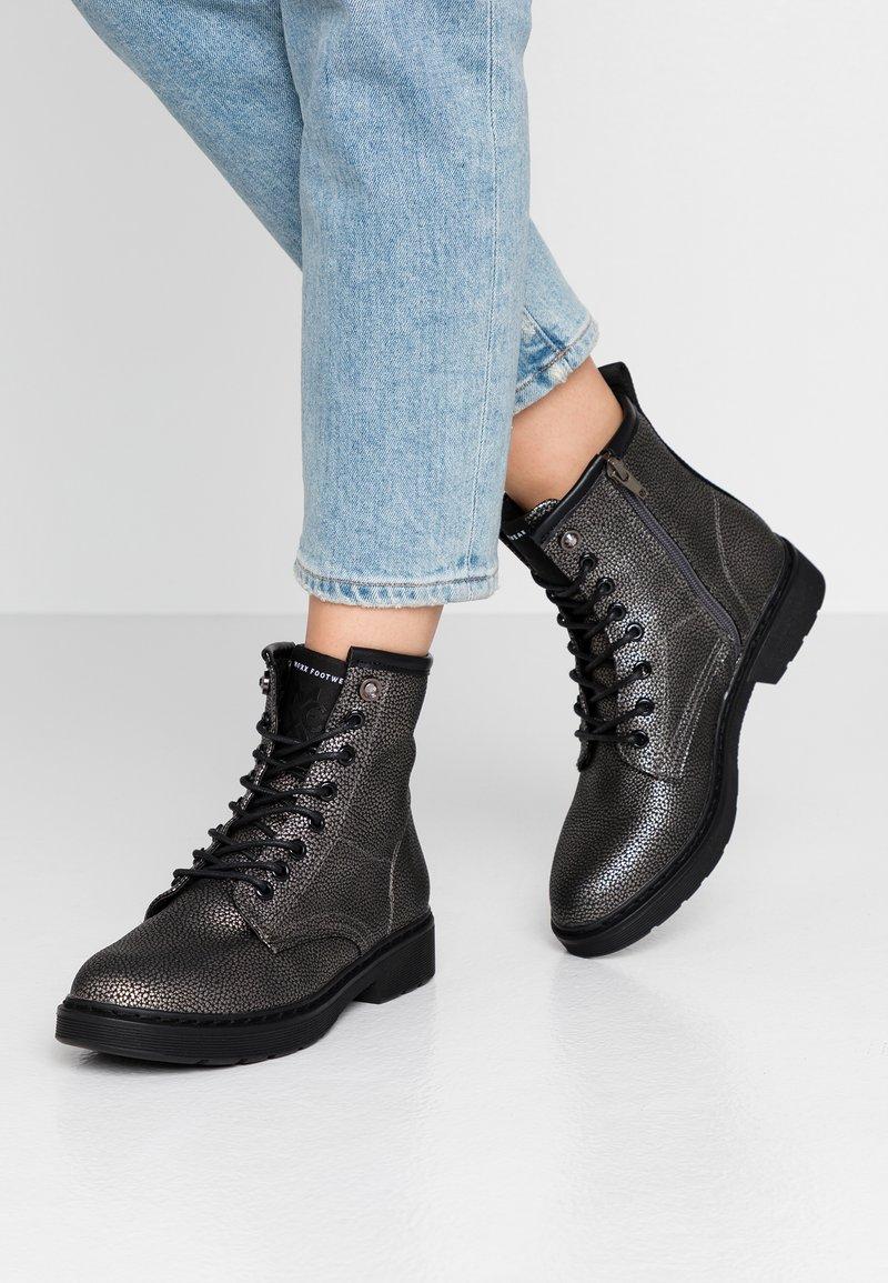 Mexx - DANINE - Lace-up ankle boots - gunmetal