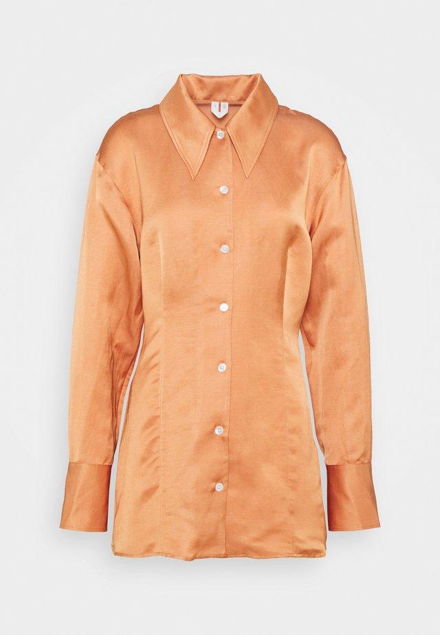 Button-down blouse - orange medium dusty