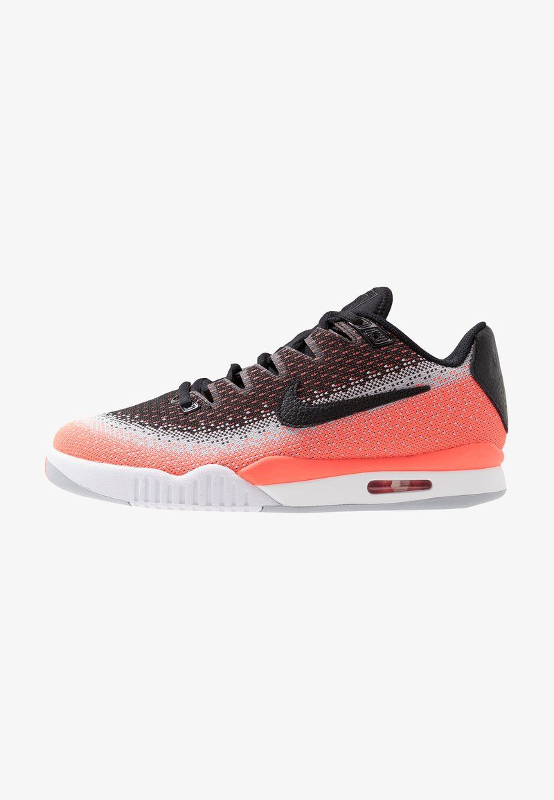 Nike Performance - TECH CHALLENGE VAPOR - Clay court tennis shoes - black/white/hot lava/wolf grey