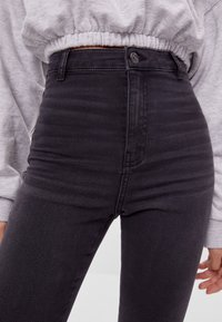 Bershka - Jeggings - dark grey - 3