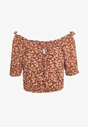 PCMAGGIE CROPPED - Blouse - copper brown