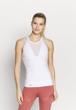 RUN TANK - Sports shirt - white/grey