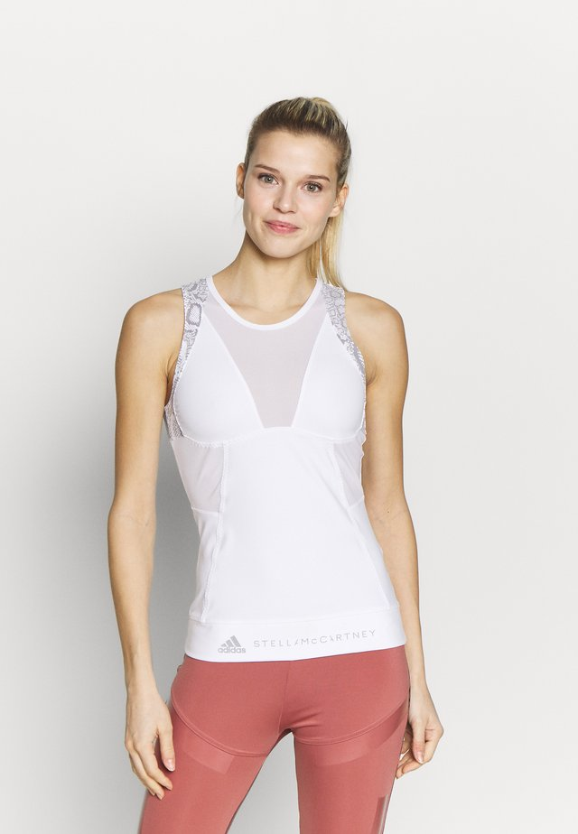 RUN TANK - Sports shirt - white/grey
