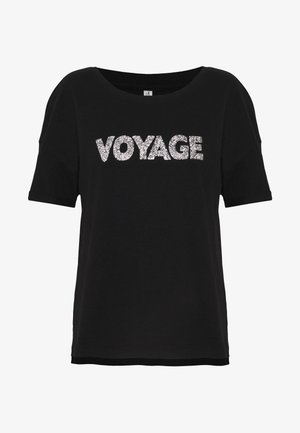 ONLVOYAGE LIFE BLING TEE - Print T-shirt - black