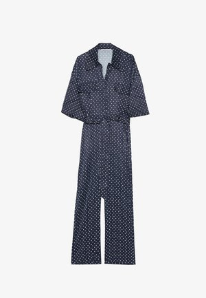 MIT TUPFENPRINT  - Jumpsuit - dark blue