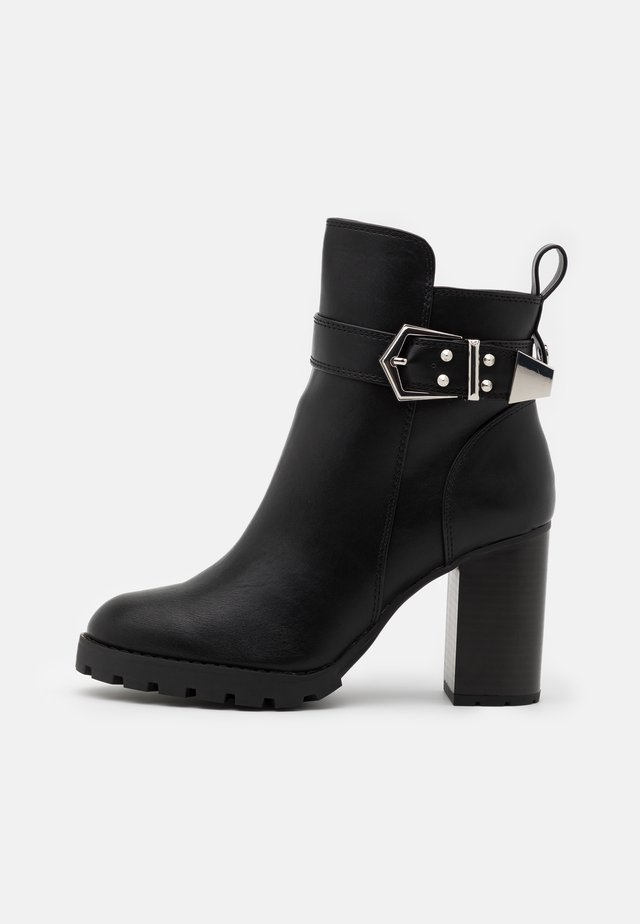 MELANY - High heeled ankle boots - black