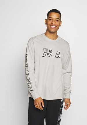 PARQUET GRAPHIC TEE - Long sleeved top - vaporous gray