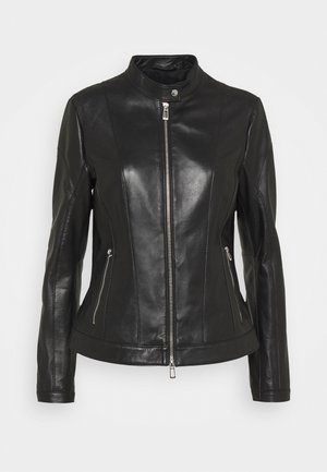 LUSEA - Leather jacket - black