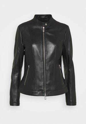 LUSEA - Kožená bunda - black