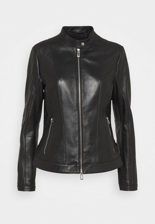 LUSEA - Leren jas - black