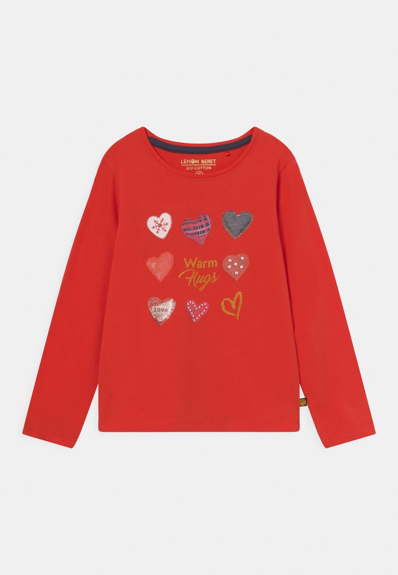Lemon Beret - SMALL GIRLS  - Long sleeved top - fiery red