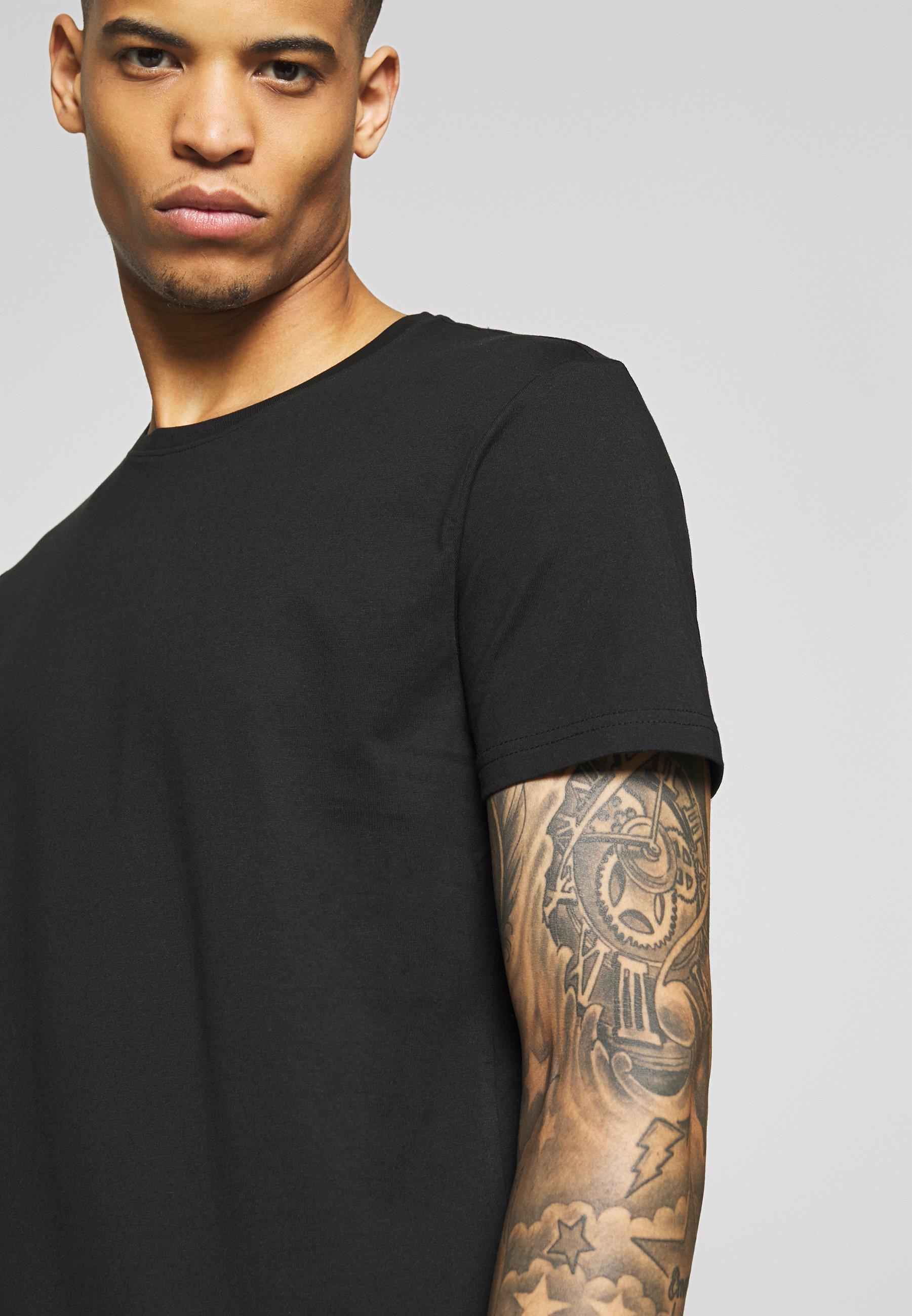 Pier One 3 Pack - T-shirts Black/ White/svart