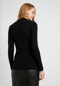 Dorothy Perkins Tall - BUTTON CUT OUT LONG SLEEVE - Long sleeved top - black - 2