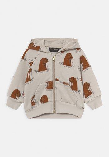 WALRUS ZIP HOODIE UNISEX - Zip-up sweatshirt - grey