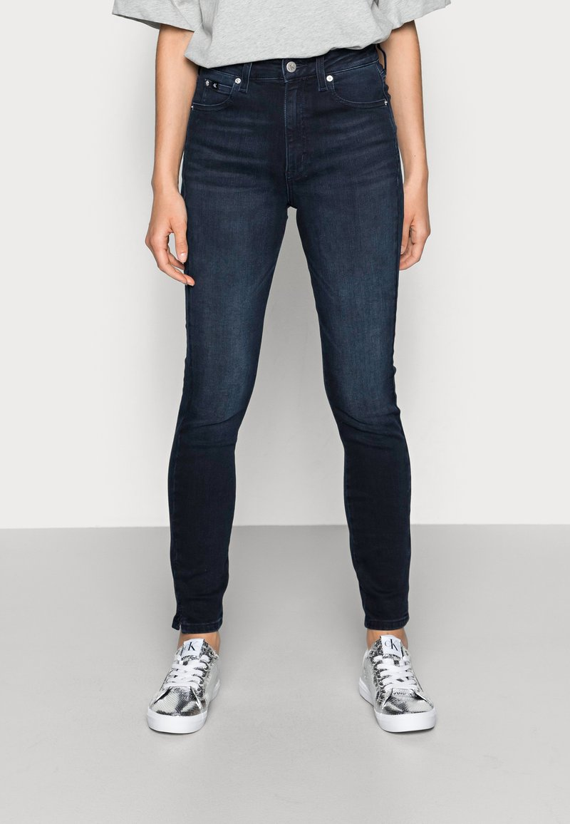 Calvin Klein Jeans - HIGH RISE SKINNY ANKLE - Jeans Skinny Fit - blue