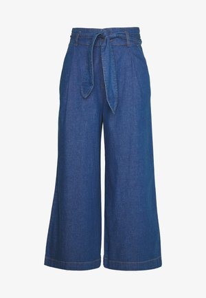 AVA PANTS CHAMBRAY - Bukse - river blue