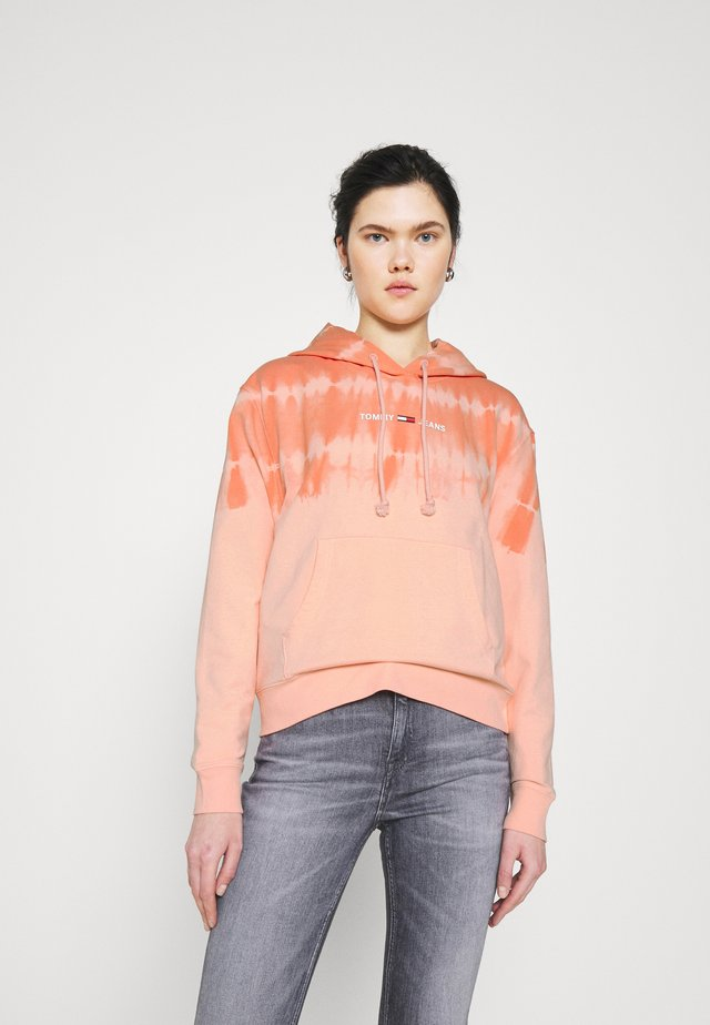 SUMMER TIE DYE HOODIE - Sweat à capuche - sweet peach / multi