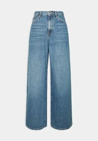 Topshop - WIDE LEG - Relaxed fit -farkut - mid blue - 0