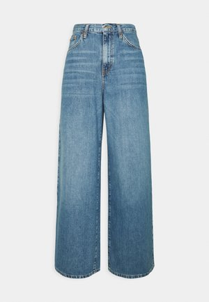 WIDE LEG - Relaxed fit -farkut - mid blue