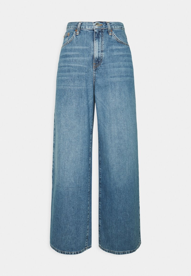 Topshop - WIDE LEG - Relaxed fit -farkut - mid blue