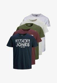 Jack & Jones - 5 PACK - T-shirt z nadrukiem - white - 6