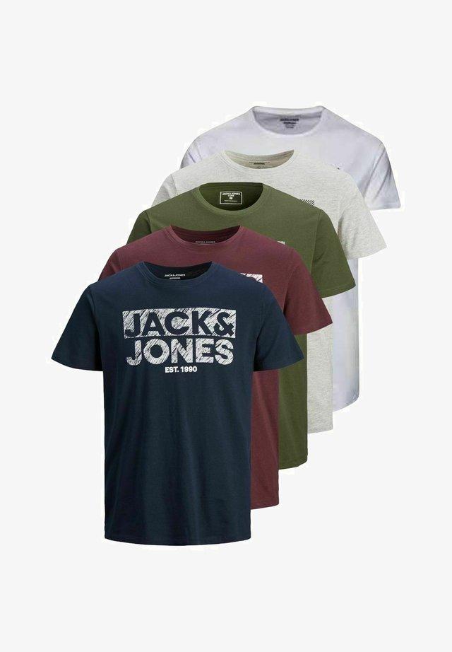 5 PACK - T-shirt imprimé - white