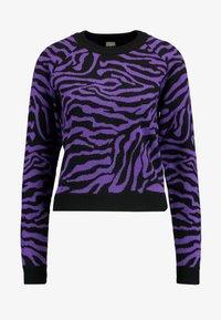 Maglione - black/purple