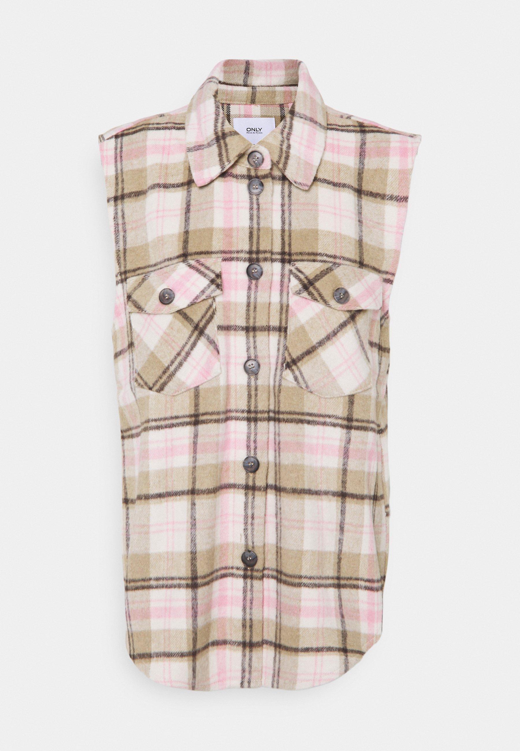 Women ONLLIPPA CHECKED VEST  - Waistcoat