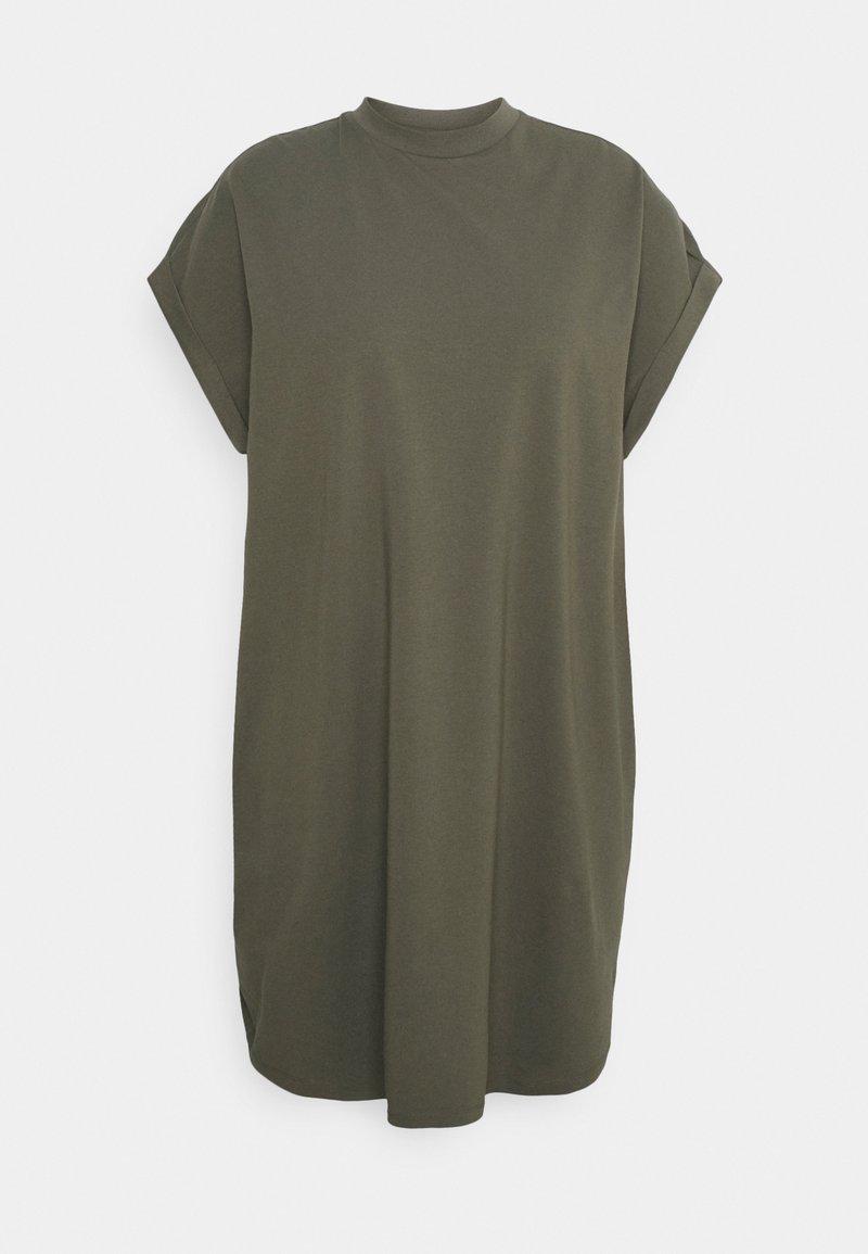 Noisy May Curve - NMHAILEY DRESS - Trikoomekko - dusty olive
