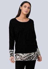Alba Moda - Sweatshirt - schwarz beige braun off white - 0
