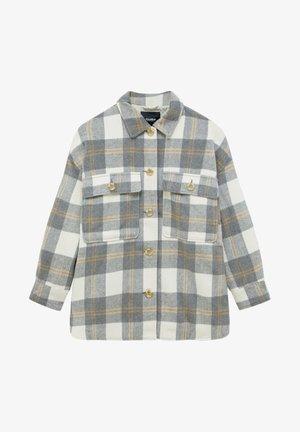 Button-down blouse - light grey