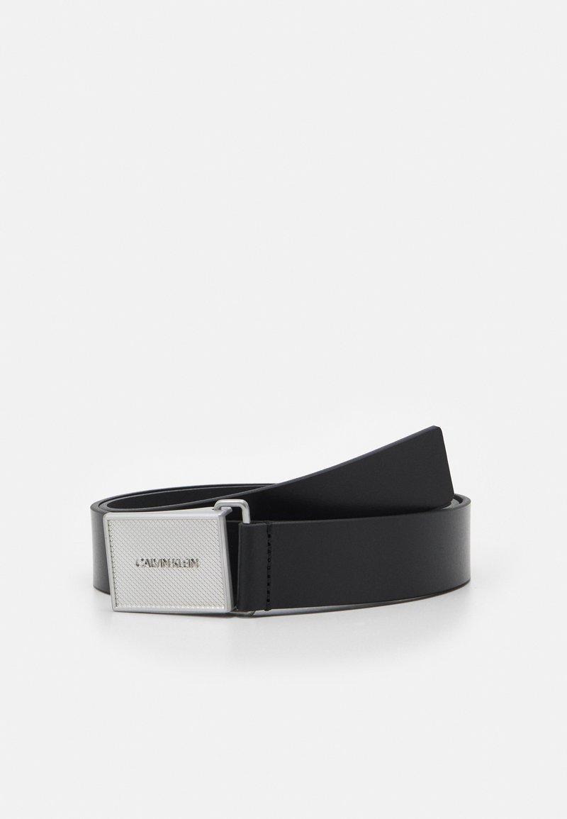 Calvin Klein - PIQUE METAL PLAQUE  - Belt - black