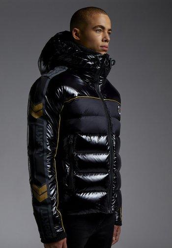 STREET BLOCK - Gewatteerde jas - black/wet black/gold