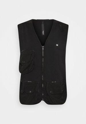 UTILITY VEST - Waistcoat - black