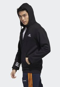 adidas Performance - ESSENTIALS COMFORT HOODED TRACK TOP - Zip-up hoodie - black - 2