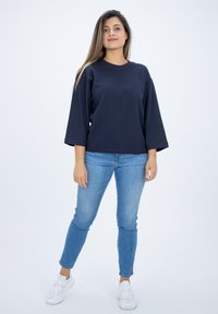 CLOSED - LONG SLEEVED STRUCTURED JERSEY  - Blouse - blue - 1