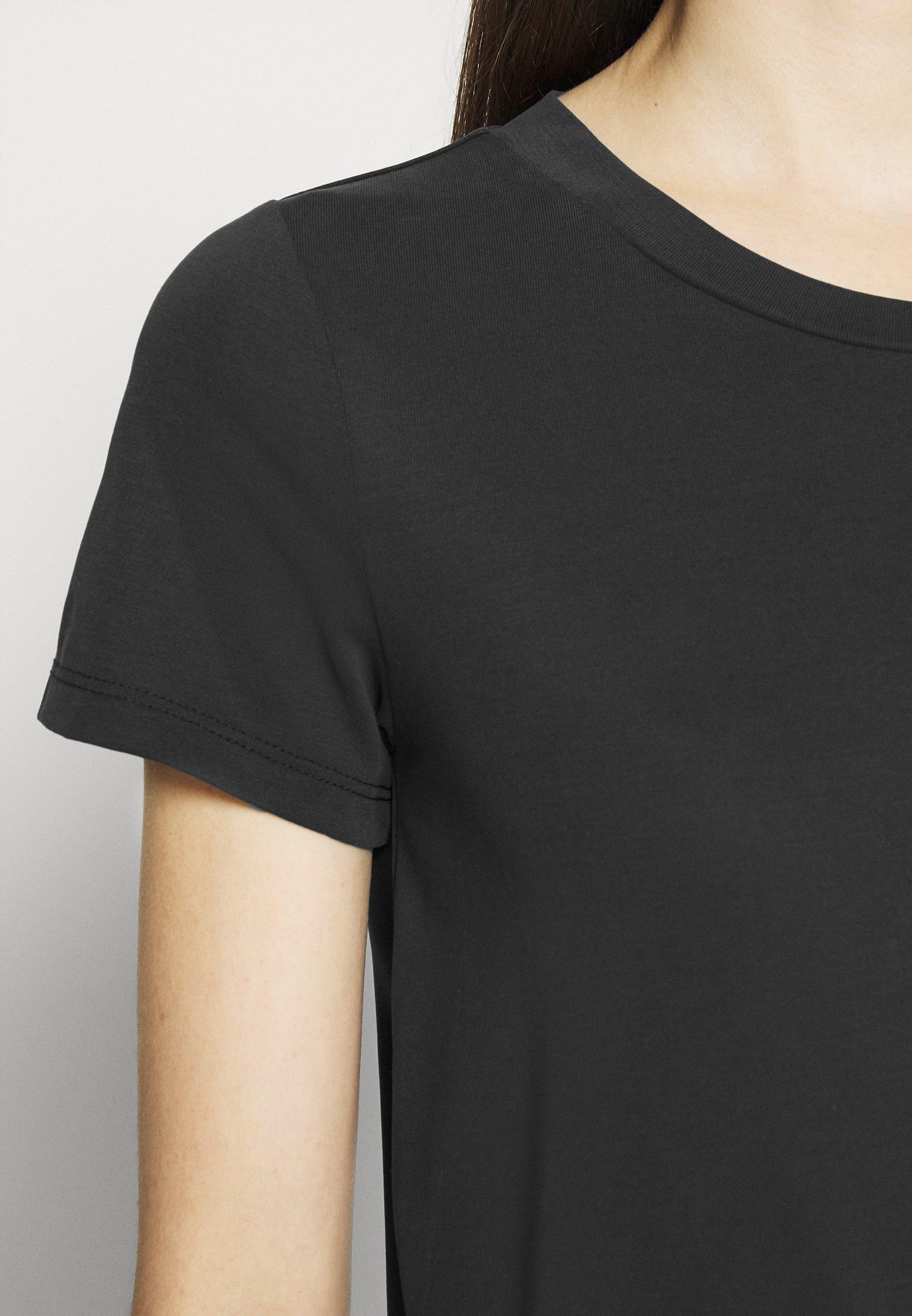 Monki Jolin - T-shirts Black Dark Running/svart