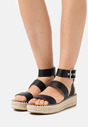 WIDE FIT BELLINI - Espadrilky - black