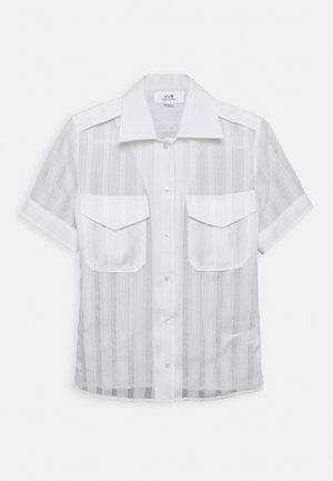 SHORT SLEEVE SHIRT - Button-down blouse - white