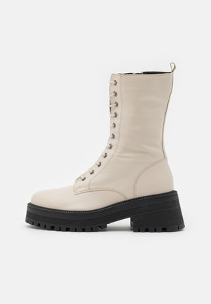 AMY CHUNKY MID LACE UP - Lace-up boots - offwhite