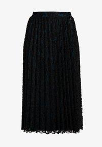 TOM TAILOR DENIM - PLEATED SKIRT - A-snit nederdel/ A-formede nederdele - deep black - 4