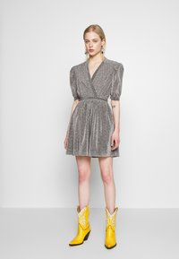 House of Holland - VNECK MINI DRESS - Cocktail dress / Party dress - silver - 1