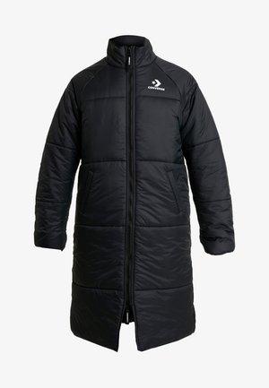 SYNTHETIC LONG JACKET - Winter coat - black