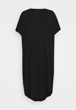 ROMA DRESS - Jerseykjole - black dark solid