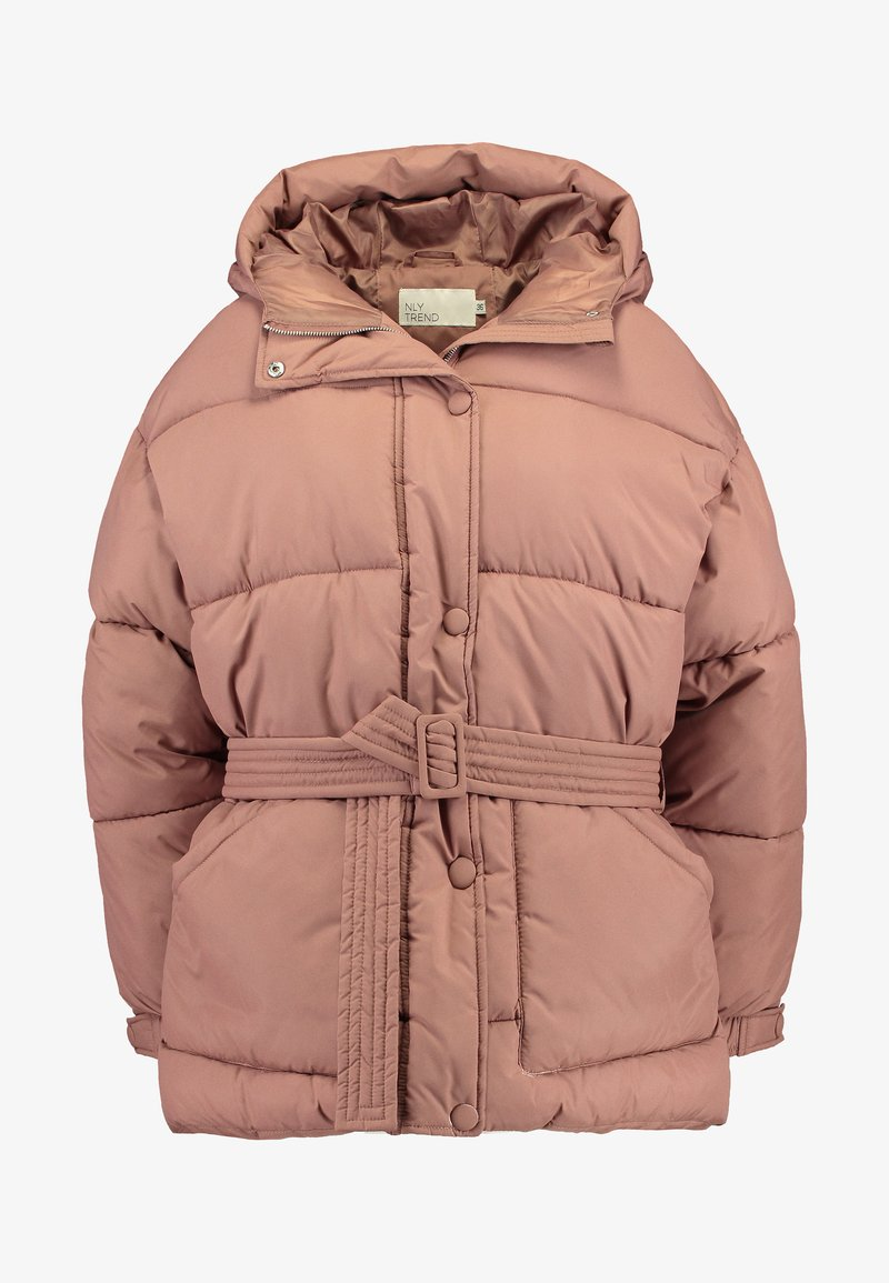 BELTED PUFFER JACKET Vinterjacka brown