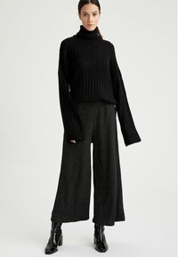 DeFacto - Trousers - anthracite - 1