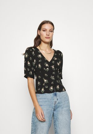 DITSY BUTTON THROUGH  - Blouse - black