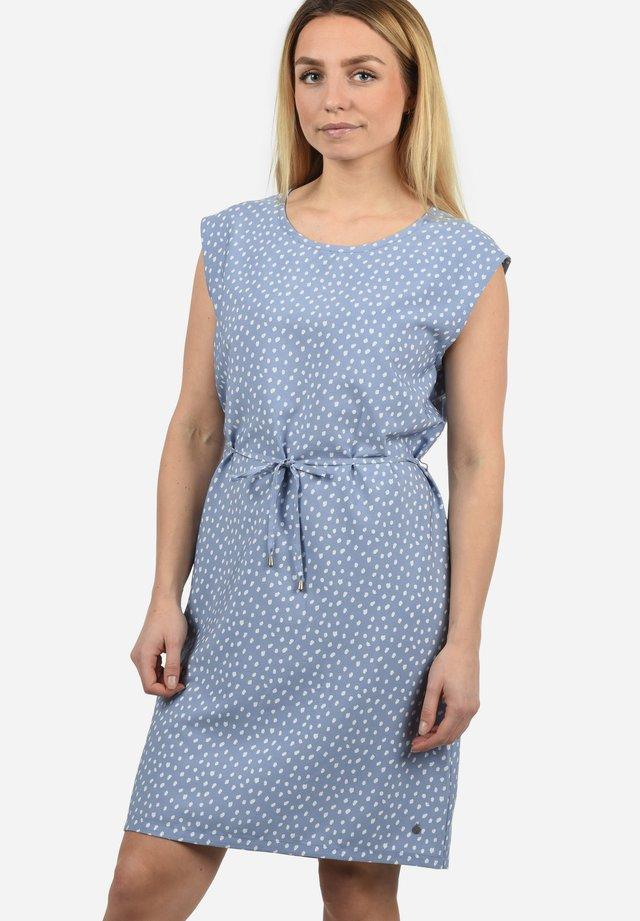 AMAIA - Korte jurk - light blue/mottled light blue
